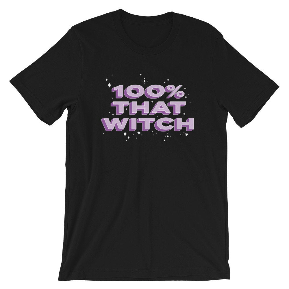 100 Percent That Witch Graphic Tee, 100% that witch, halloween tshirts, halloween shirt, gift idea, music lyrics shirt, pop culture, unisex