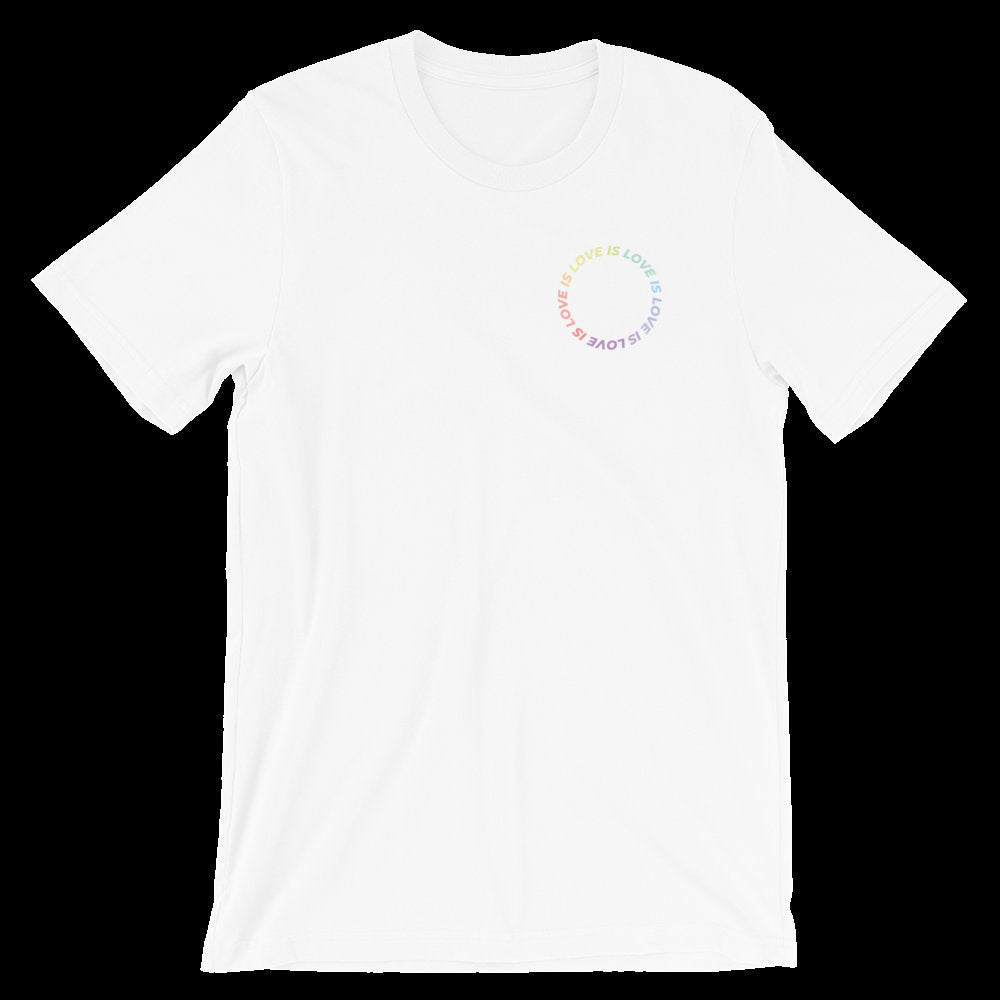 Love Is Love Pride Graphic Tee, pride tshirt, pride shirt, pride, LGBTQ, pride parade shirt, love is shirt, LGBTQ gift, front and back print