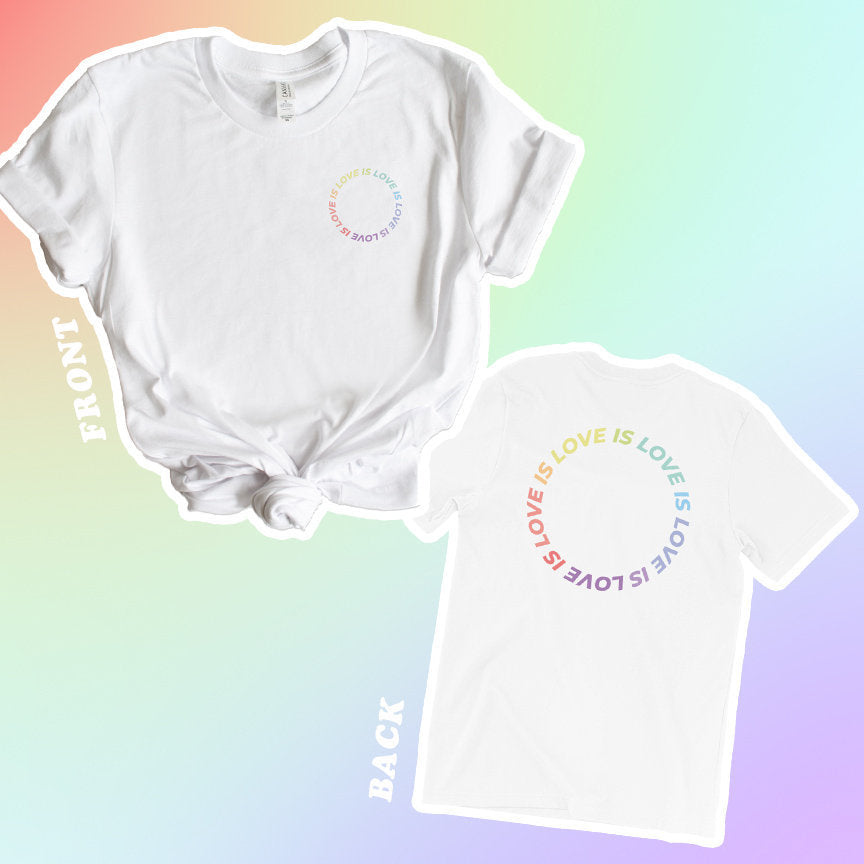 Love Is Love Graphic Tee - pinksundays