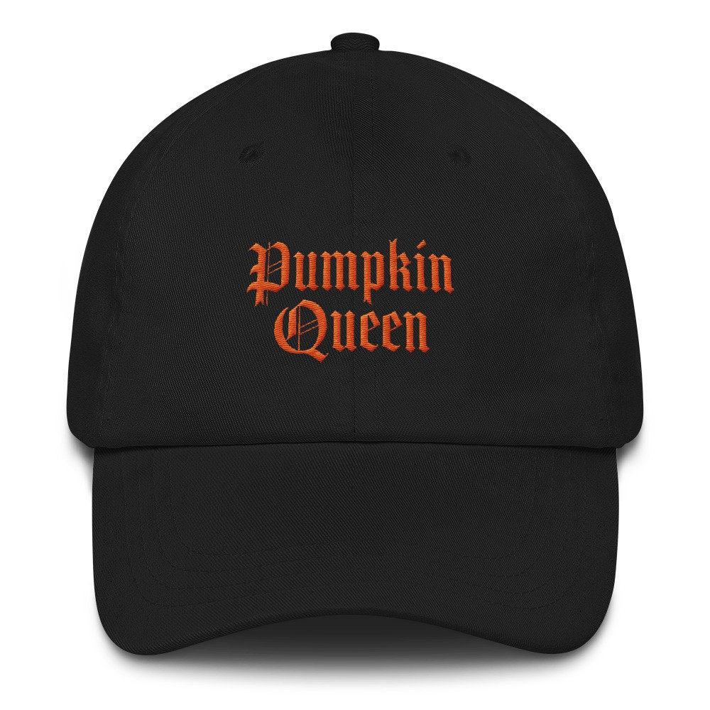 Pumpkin Queen Dad Hat, halloween hat, halloween baseball cap, fall baseball hat, fall hat, disney hats, nightmare before, embroidered hat
