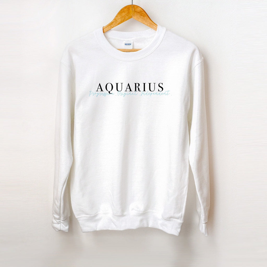 Aquarius Sweatshirt, zodiac sign sweater, zodiac gift, aquarius birthday gift, aquarius crewneck, aquarius season, holiday gift idea, zodiac