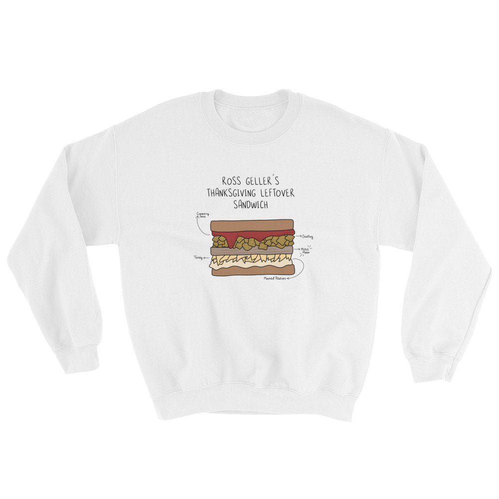 Ross Geller's Thanksgiving Sandwich Sweatshirt, friends thanksgiving sweater, thanksgiving crewneck, holiday sweaters, funny sweatshirt gift