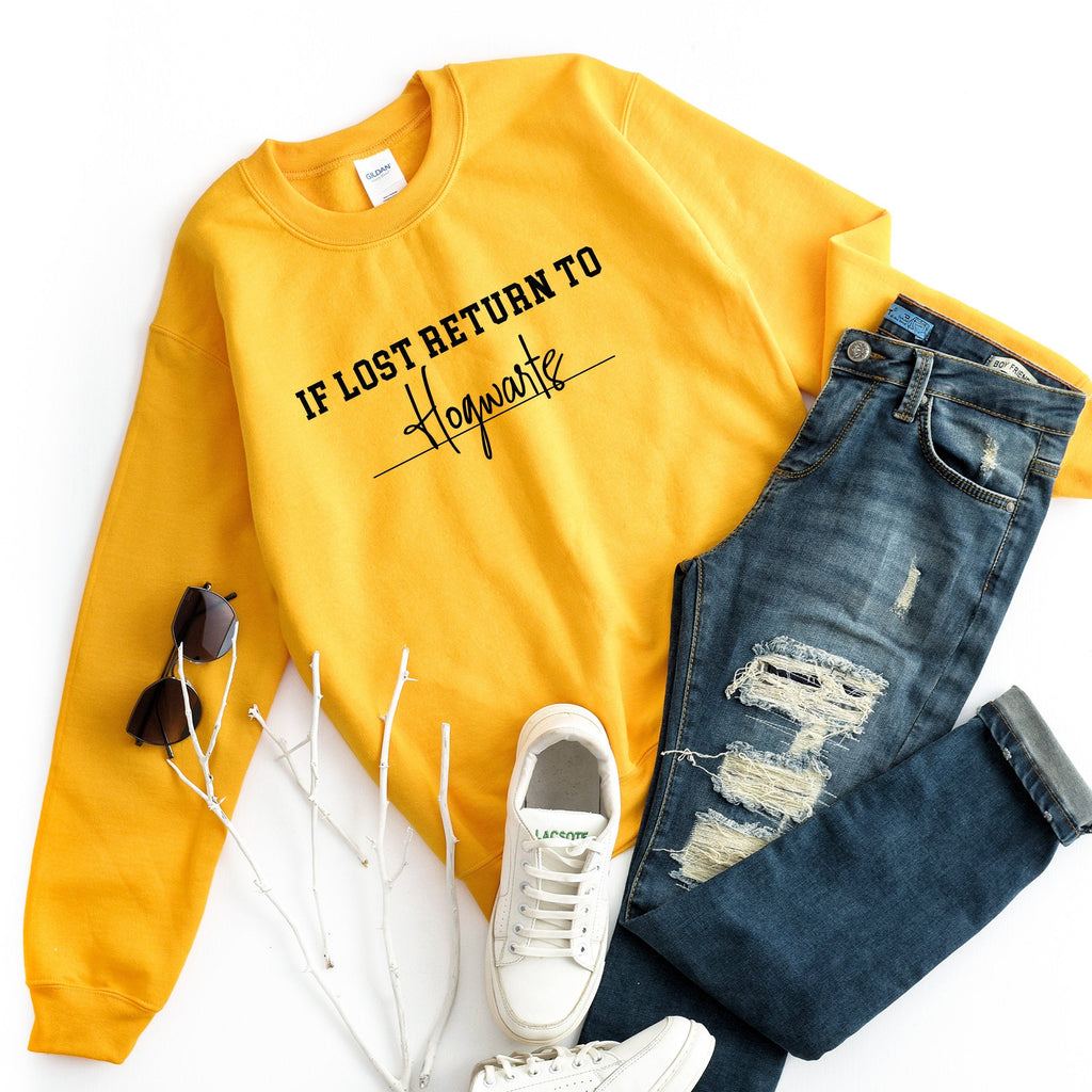 Yellow Wizard If Lost Return To Sweater - pinksundays