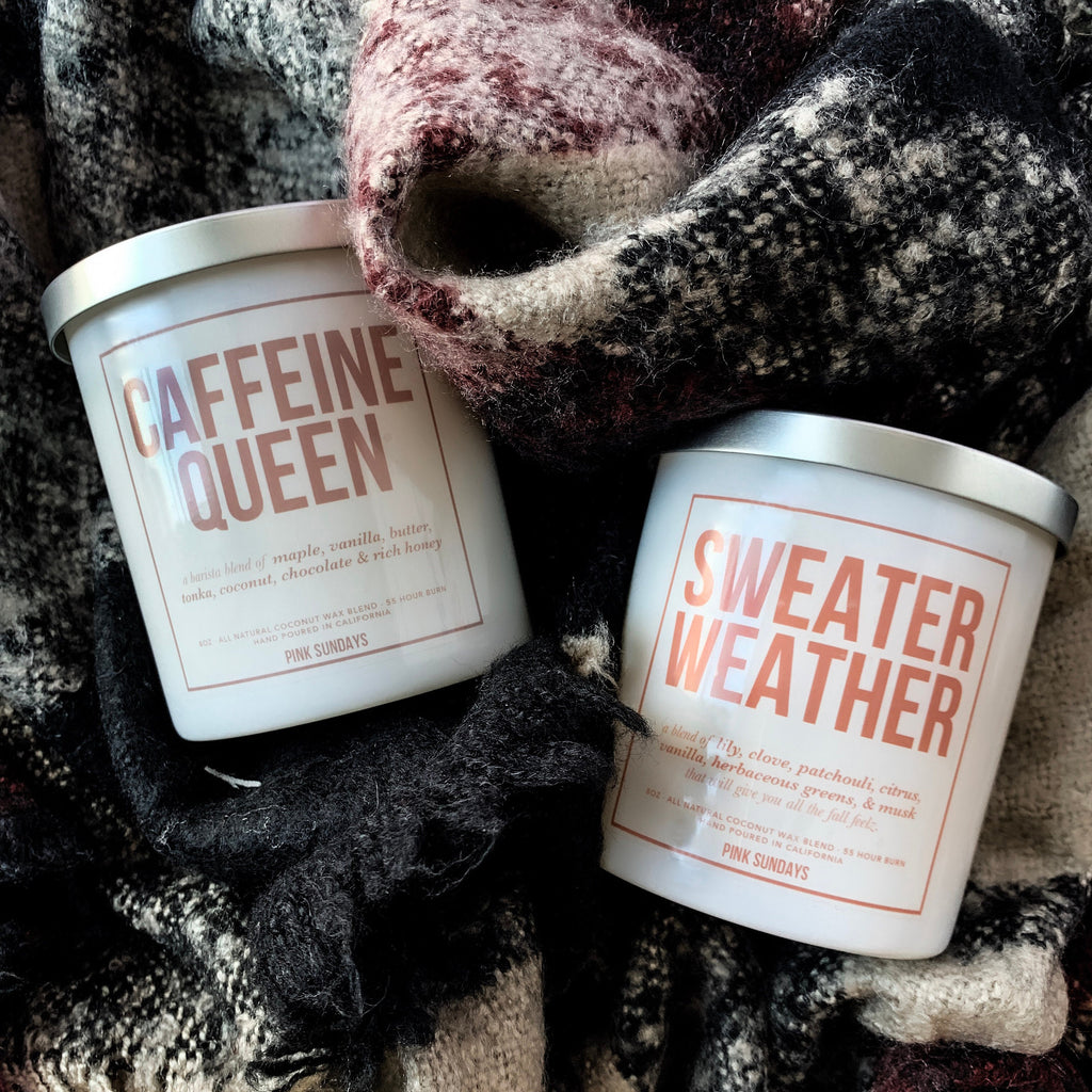 Sweater Weather Candle - pinksundays