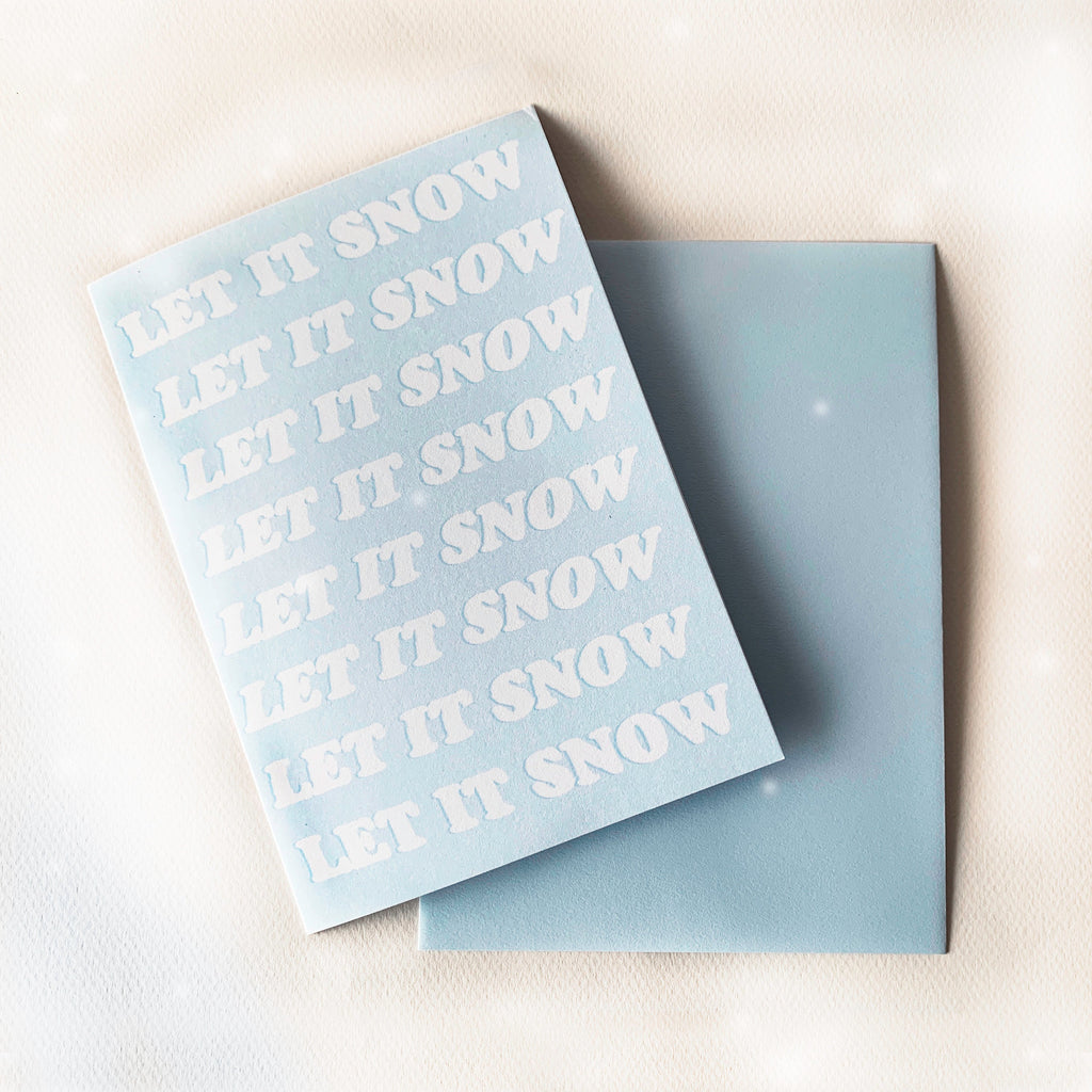 Let It Snow Greeting Card - pinksundays