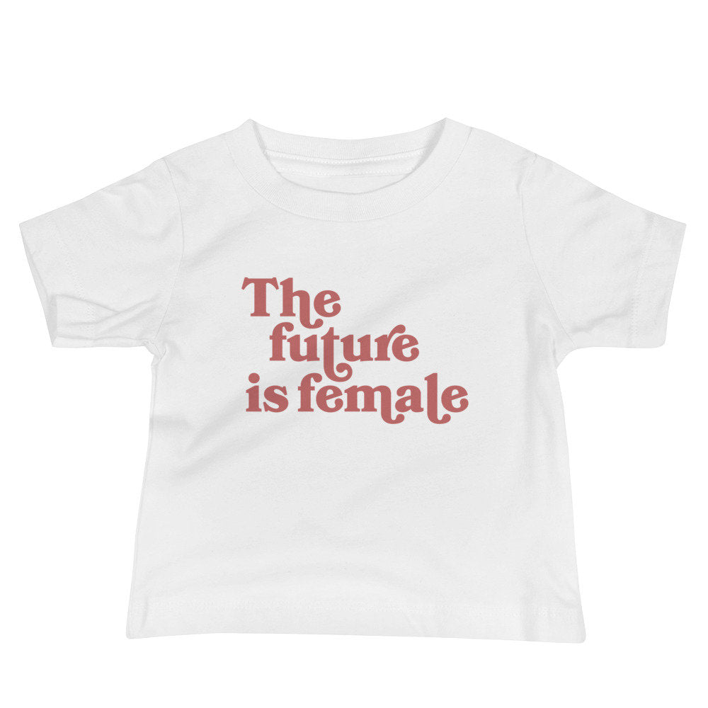 The Future Is Female Kids Graphic Tee, Baby girl tshirt, baby tshirts, feminist baby shirt, infant apparel, infant tshirt, baby girl gifts
