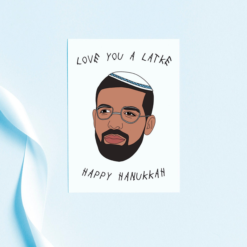 I Love You A Latke, Happy Hanukkah, Greeting Card, holiday cards, funny hanukkah card, chanukah card, gift card, pop culture holiday card