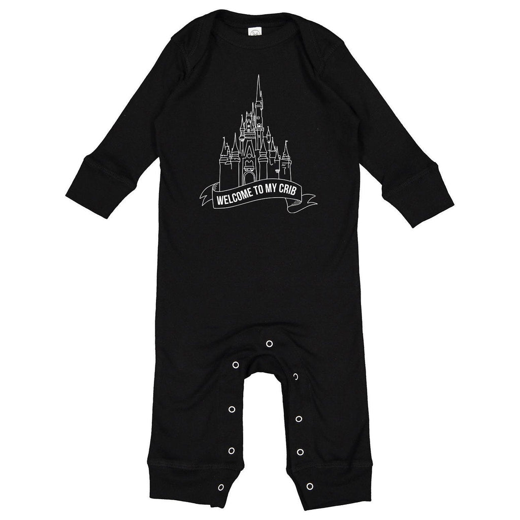 Welcome To My Crib Baby Romper, baby theme park outfit, baby pjs, baby pajamas, theme park baby, funny baby clothes, millennial baby, gift