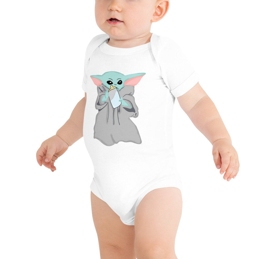 Blue Milk Baby Bodysuit - pinksundays