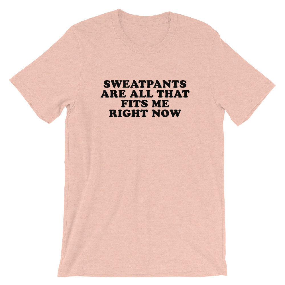 Sweatpants Are All That Fits Me Right Now, Baby Announcement Tshirt, women graphic tee, pop culture pregnancy announcement shirt, mom and me