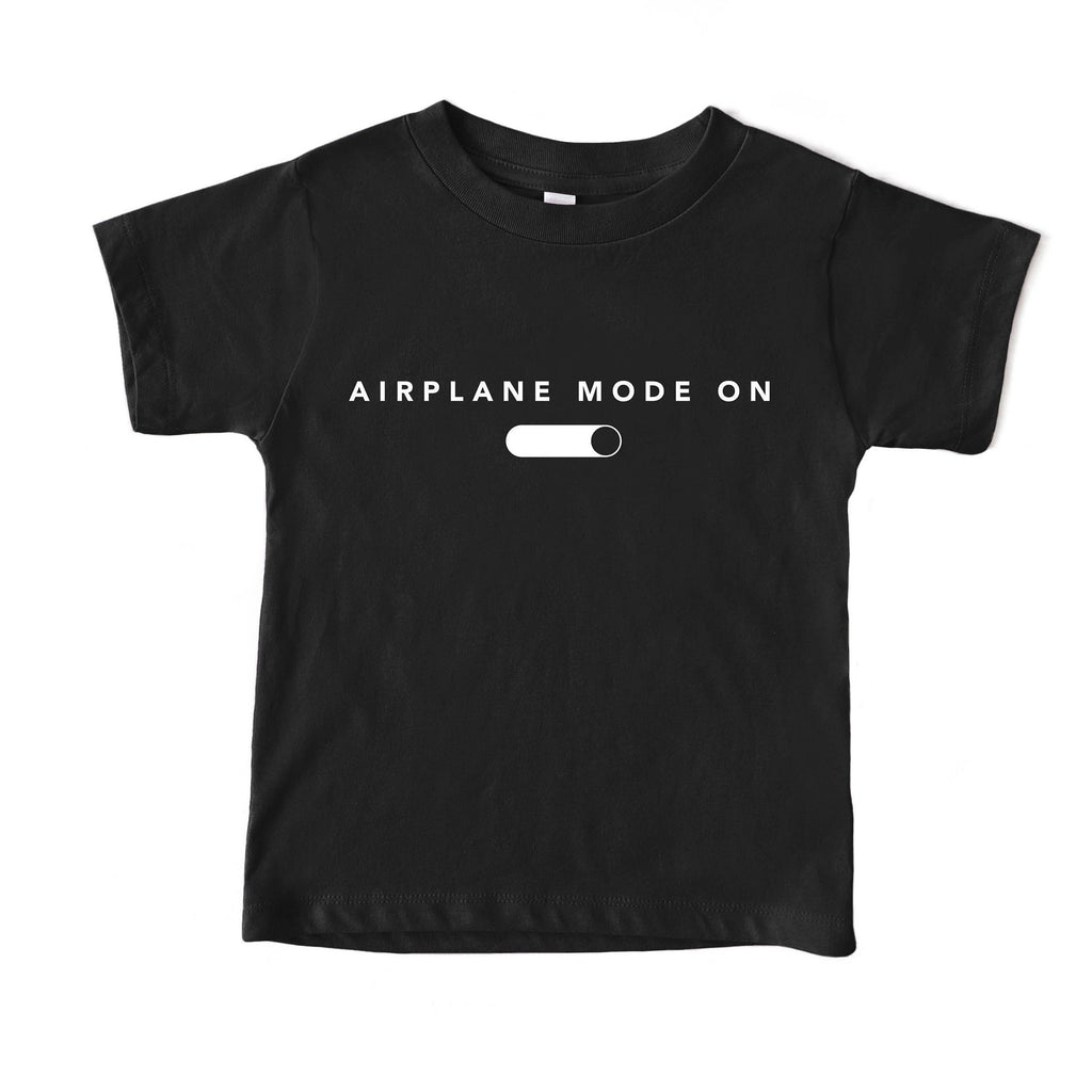 Airplane Mode On Baby graphic tee, baby shirt, baby tshirt, kids tshirts, baby clothes, baby travel outfit, baby gift idea, traveling baby
