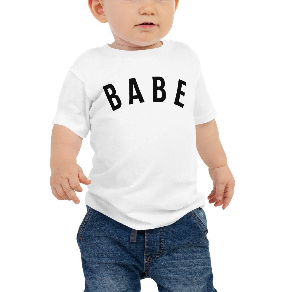 Babe graphic tee for baby, baby tshirt, bridal shower gift, mommy and me shirt, matching mom baby tshirt, unisex baby tee, baby crewneck tee