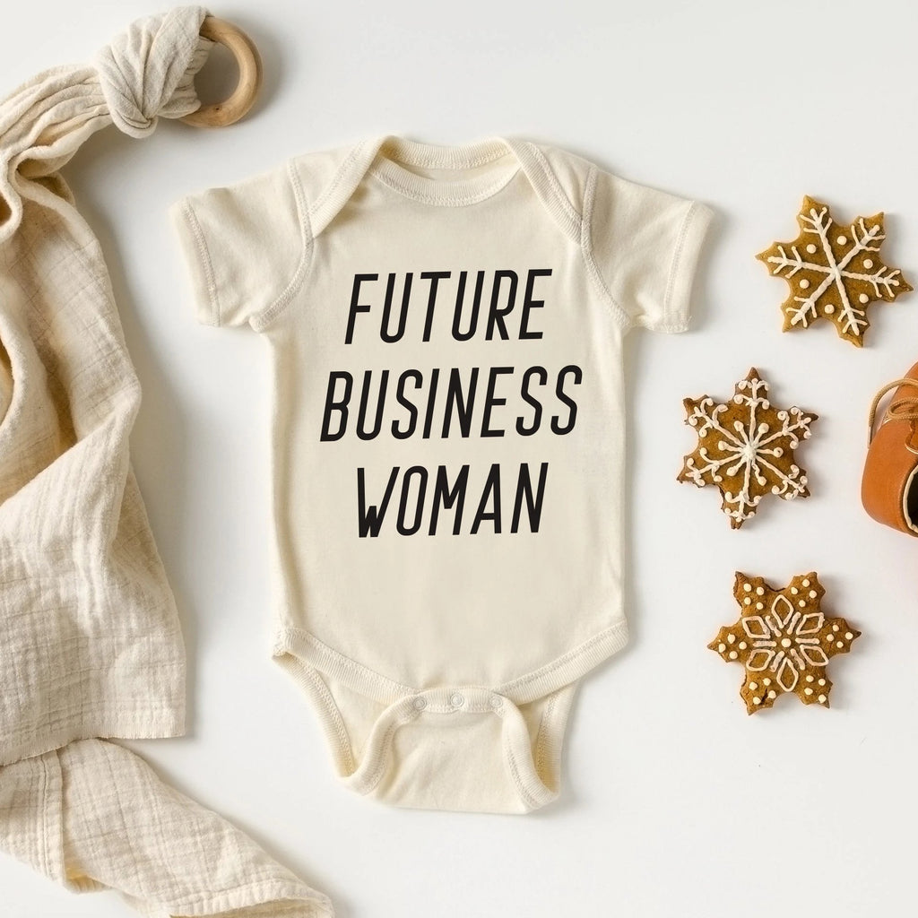 Future Business Woman Baby Bodysuit - pinksundays