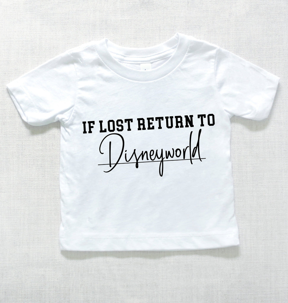 If Lost Return To World Baby Graphic Tee - pinksundays
