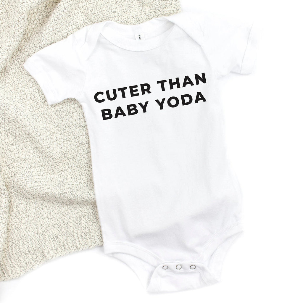 Cuter Than Baby Yoda Baby Bodysuit - pinksundays