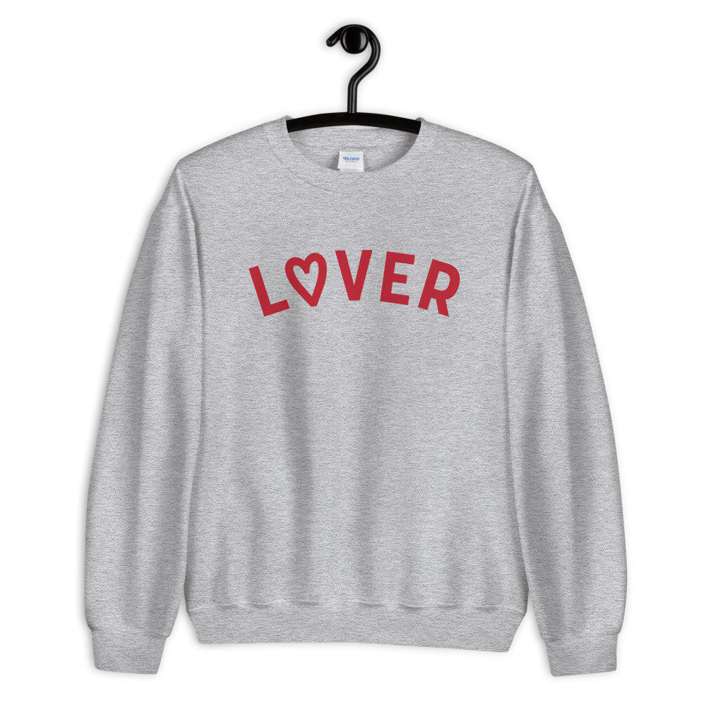 Lover Sweater, lover crewneck sweatshirt, valentines day sweater, valentines day gift, gift for her, unisex fit, pop culture sweater, gift