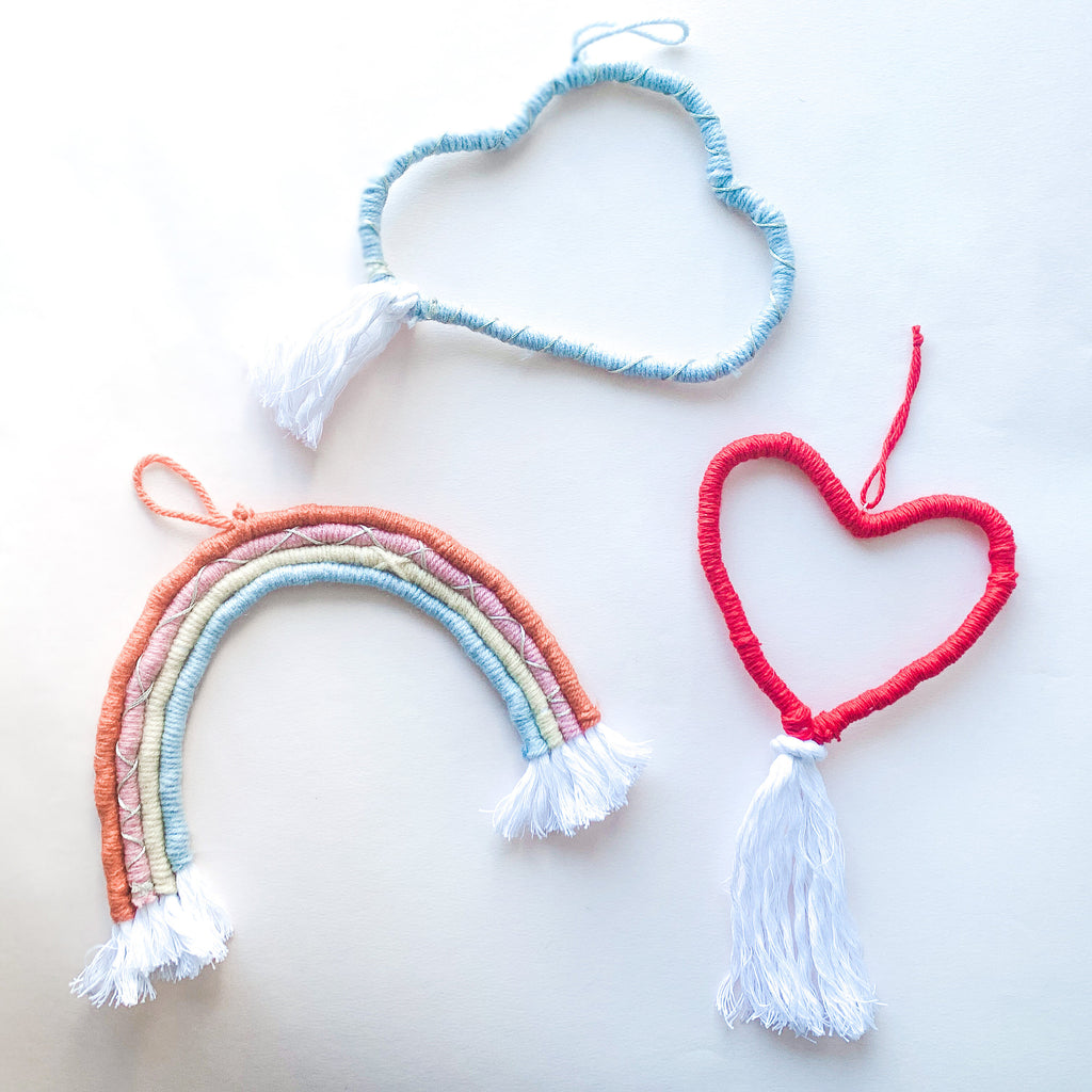 Rainbow Macrame Wall Hanging - pinksundays