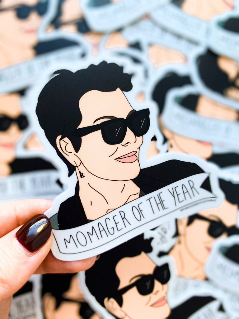 Momager Of The Year Sticker - pinksundays
