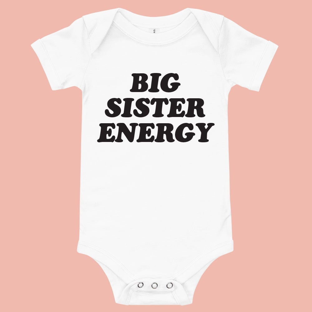 Big Sister Energy Baby Bodysuit - pinksundays