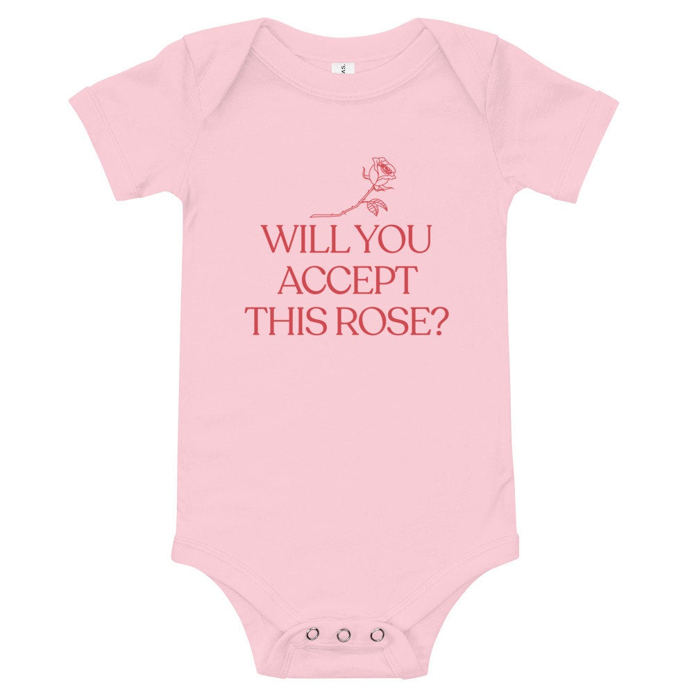 Will You Accept This Rose Baby Bodysuit, baby bachelor bodysuit, bachelorette, bachelor, reality tv baby gift, newborn, funny baby gift