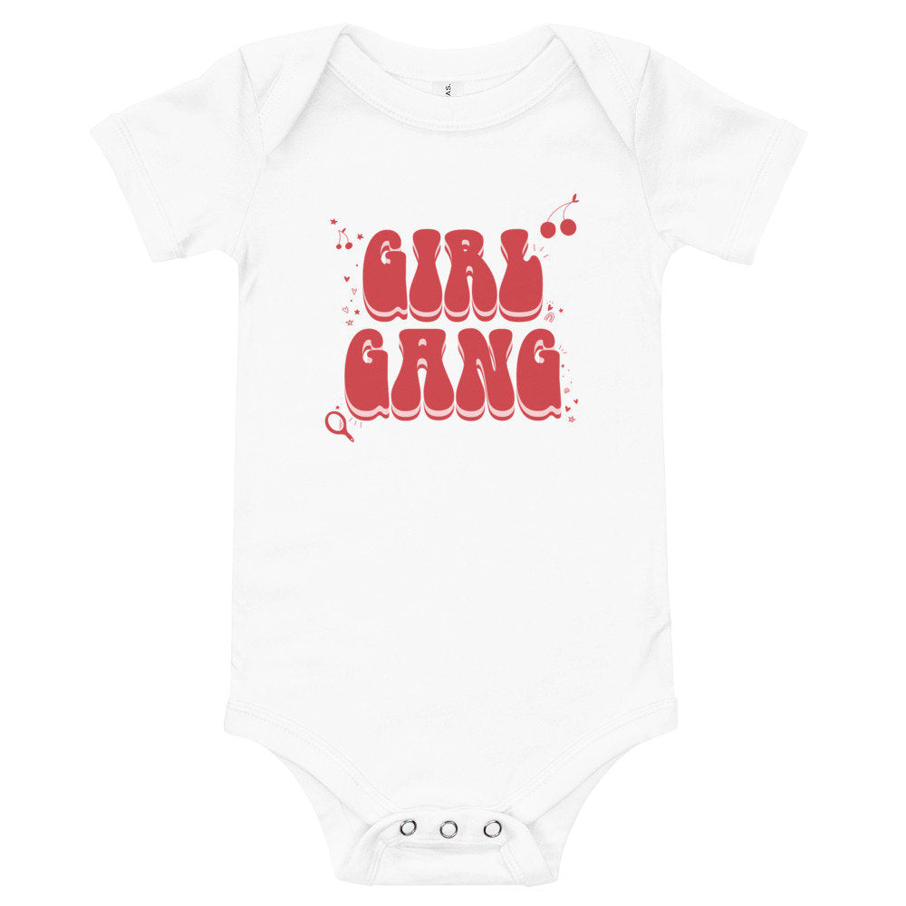 Girl Gang Baby Bodysuit, baby girl valentines outfit, mommy and me matching tee and onesie, mommy and me girl gang, galentines baby, gift