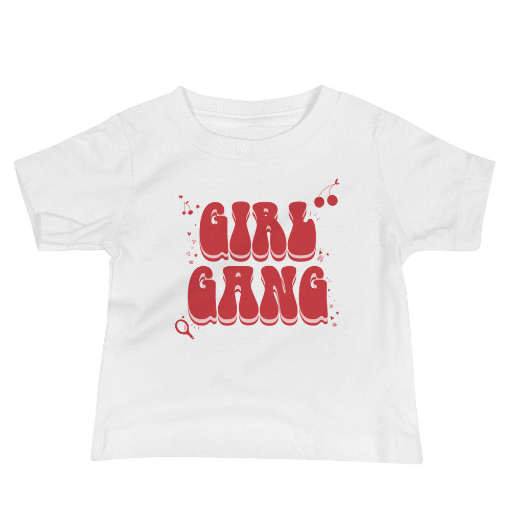 Girl Gang Baby Graphic Tee, mommy and me tee, baby tshirt, baby valentines tshirt, baby galentines, valentines gift for baby girl, baby girl