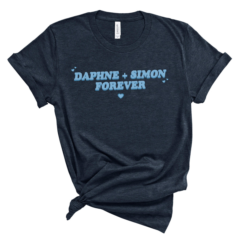 Daphne and Simon Forever Graphic Tee, fangirl tee, fandom tshirt, daphne bridger, duke of hastings, pop culture graphic tee, tv show tee