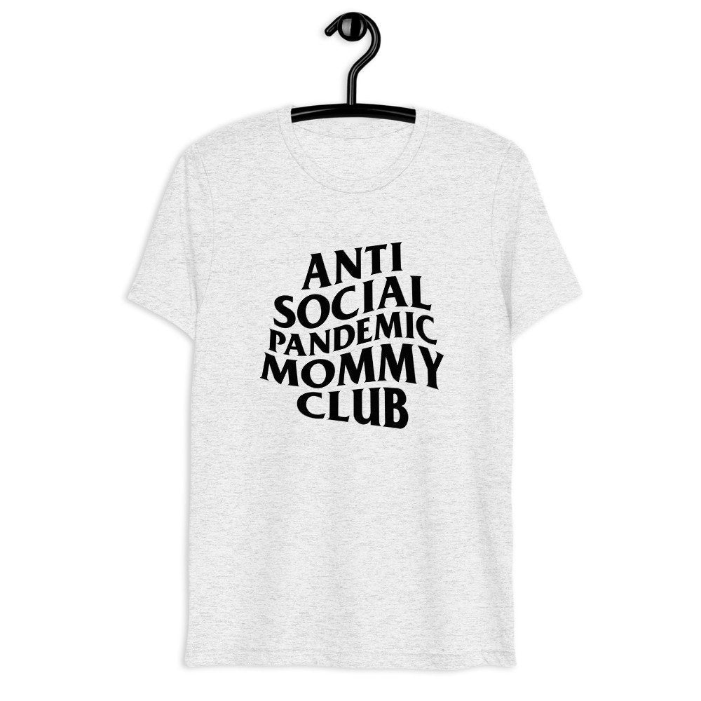 Anti Social Pandemic Mommy Club, graphic tee, mothers day tshirt, covid mom shirt, mommy and me tee and bodysuit, brand parody funny tshirt
