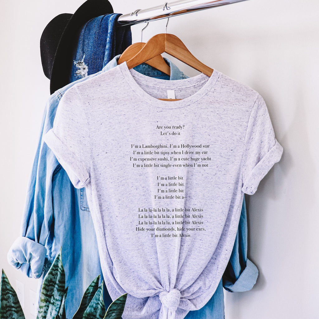 Alexis Lyrics Graphic Tee