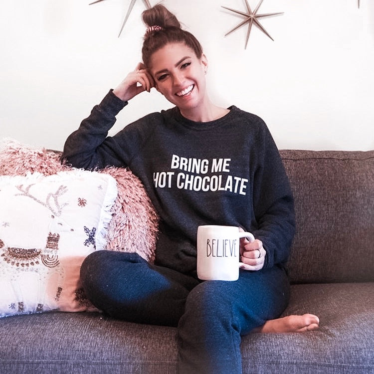 Bring Me Hot Chocolate Luxe Sweater - pinksundays