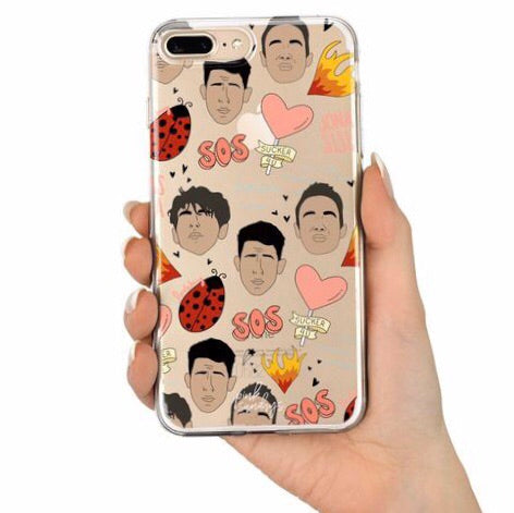 Jonas Brothers Pattern Iphone Case - pinksundays