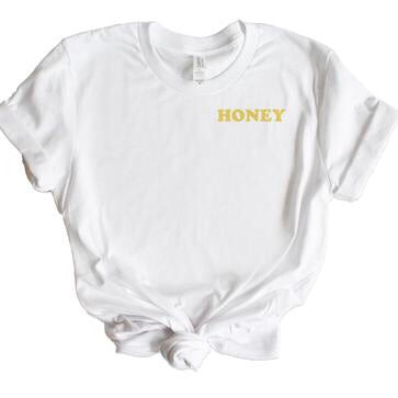 Honey Pocket Detail Graphic Tee