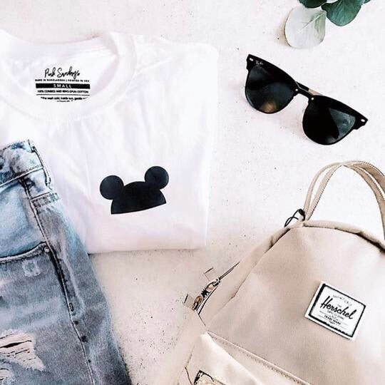 Mouse Ears Pocket Detail Graphic Tee