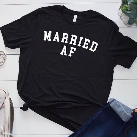 Married AF Graphic Tee - pinksundays