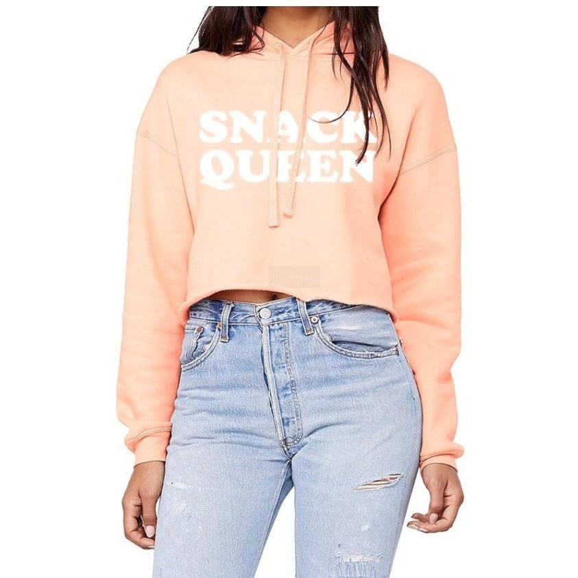 Snack Queen Cropped Hoodie - pinksundays