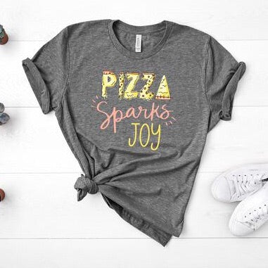 Pizza Sparks Joy Graphic Tee - pinksundays