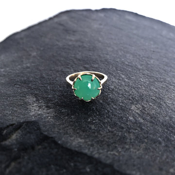 Chrysoprase & 14k Gold