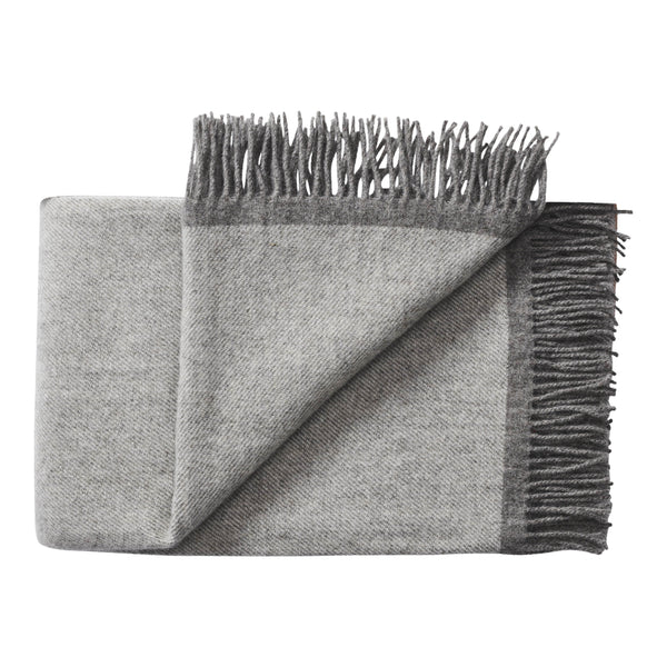 Silkeborg Uldspinderi ApS Alrø Plaid 140x240 cm Throw 0834 Grey Shades