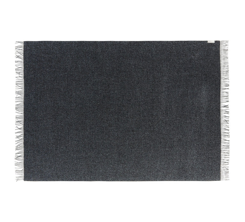 Silkeborg Uldspinderi ApS Arequipa Plaid 130x200 cm Throw 0403 Dark Grey