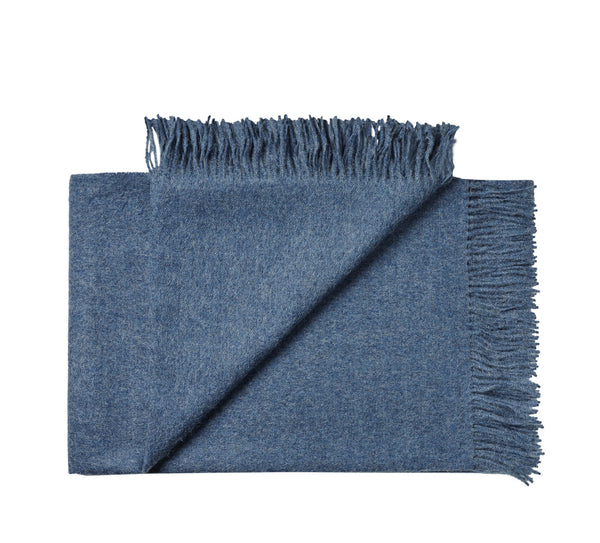 Silkeborg Uldspinderi ApS Cusco Plaid 130x200 cm Throw 0726 Denim Blue