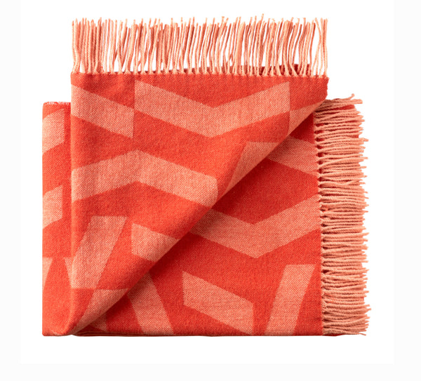 Silkeborg Uldspinderi ApS Dashes 130x190 cm Throw Orange Rose 8206