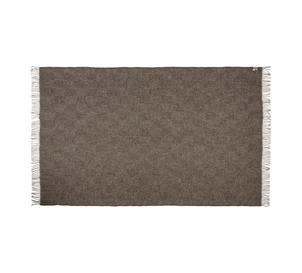 Silkeborg Uldspinderi ApS Fanø Plaid 140x240 cm Throw 0108 Ash Brown