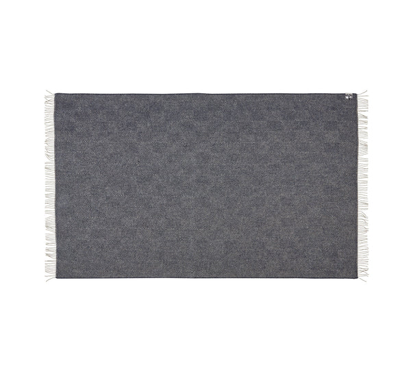 Silkeborg Uldspinderi ApS Fanø Plaid 140x240 cm Throw 0184 Granite Blue