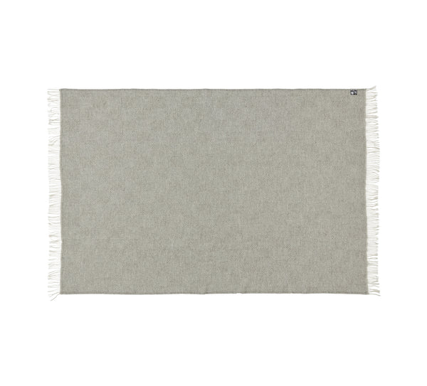 Silkeborg Uldspinderi ApS Fanø Plaid 85x130 cm Throw 0109 Light Nordic Grey