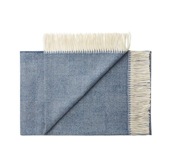 Silkeborg Uldspinderi ApS La Paz 130x200 cm Throw 0726 Denim Blue