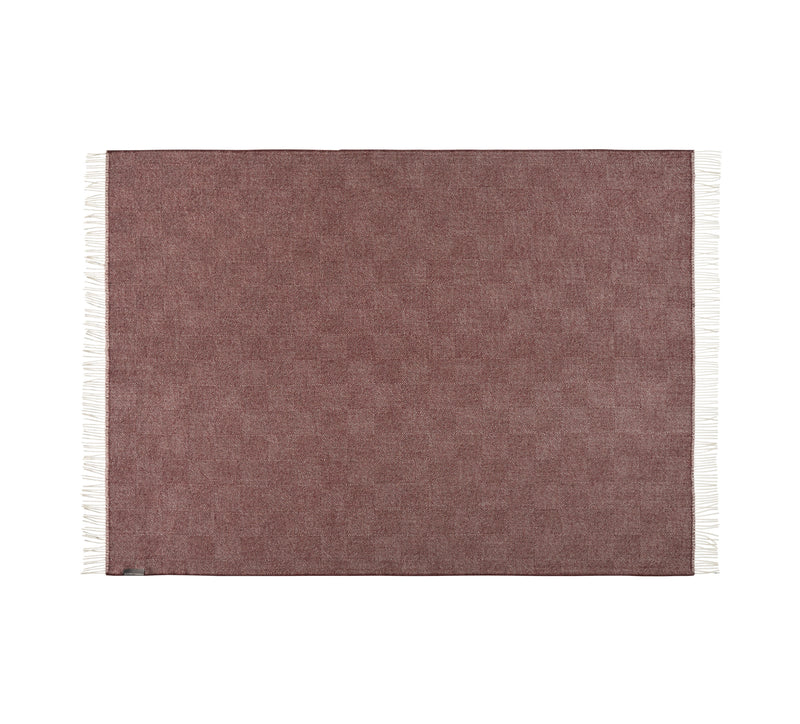 Silkeborg Uldspinderi ApS La Paz 130x200 cm Throw Old Bordeaux 0640