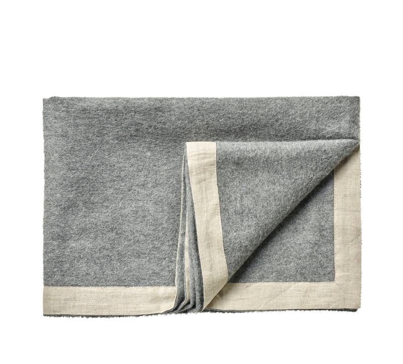 Silkeborg Uldspinderi ApS Mendoza 130x180 cm Throw Medium Grey 0435