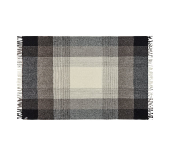 Silkeborg Uldspinderi ApS Oxford Plaid 140x240 cm Throw 5304 Dark Grey