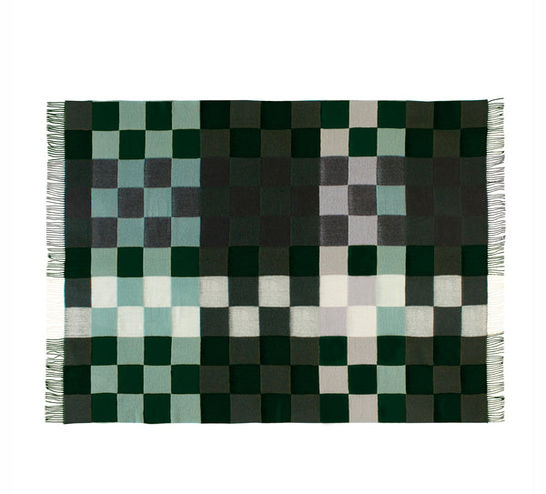 Silkeborg Uldspinderi ApS Plain Beat 130x190 cm Throw 1223 Dark Greens