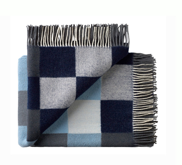Silkeborg Uldspinderi ApS Plain Beat 130x190 cm Throw 1225 Muted Blues